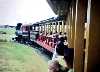 Lakeland Amusement Park's Huff n Puff Railroad on its route