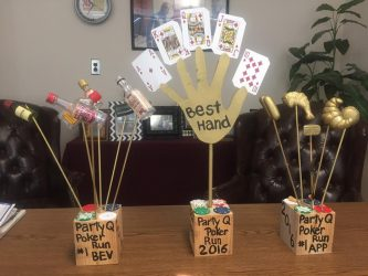 Garner Lake 2016 Poker Run Trophies