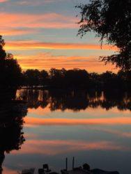 A sunset on Garner Lake Lakeland TN